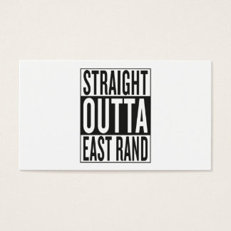 straight outta East Rand Business Card