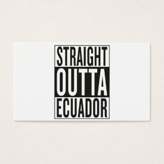 straight outta Ecuador Business Card
