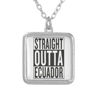 straight outta Ecuador Square Pendant Necklace