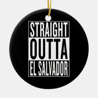 straight outta El Salvador Ceramic Ornament