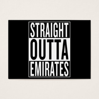 straight outta Emirates Business Card
