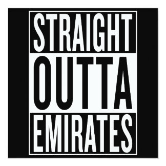 straight outta Emirates Card