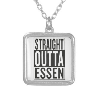straight outta Essen Silver Plated Necklace
