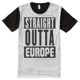 Straight Outta Europe - Brexit - -  All-Over Print T-shirt