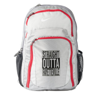 straight outta Fayetteville Nike Backpack
