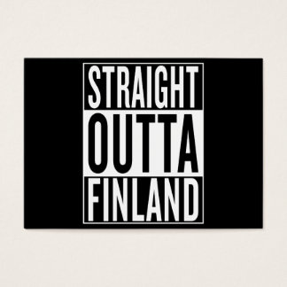 straight outta Finland Business Card