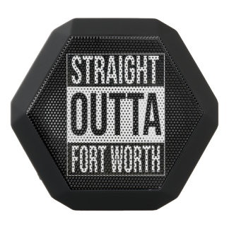 Straight Outta  Fort Worth, #fortworth Black Bluetooth Speaker