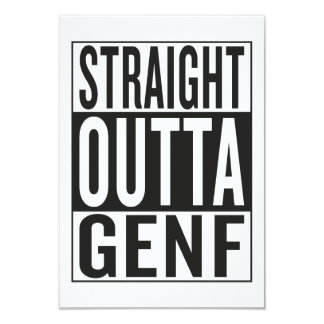 straight outta Genf Card