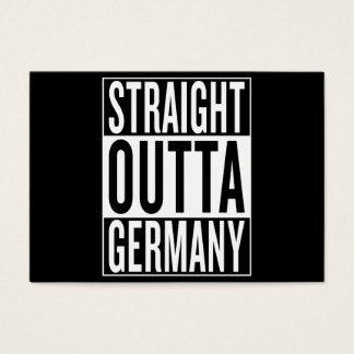 straight outta Germany Business Card