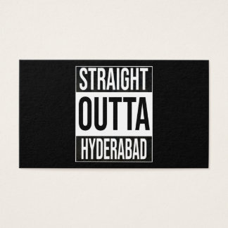 Straight Outta  Hyderabad, #Hyderabad Business Card