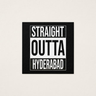 Straight Outta  Hyderabad, #Hyderabad Square Business Card