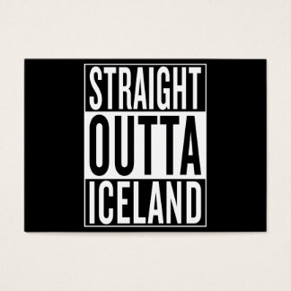 straight outta Iceland Business Card