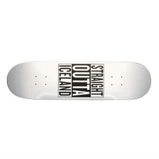 straight outta Iceland Skateboard Deck
