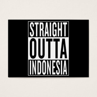 straight outta Indonesia Business Card