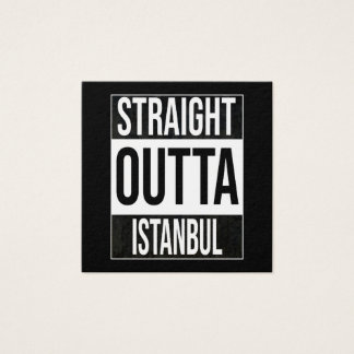 Straight Outta  Istanbul, #Istanbul Square Business Card