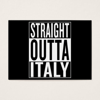straight outta Italy Business Card