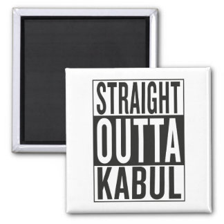 straight outta Kabul 2 Inch Square Magnet