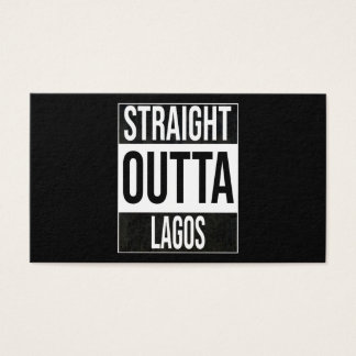 Straight Outta  Lagos, #Lagos Business Card