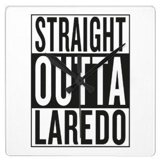 straight outta Laredo Square Wall Clock