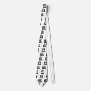 Lawyer Themed Straight Outta Law School Funny T Shirt Neck Tie