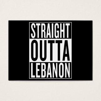 straight outta Lebanon Business Card