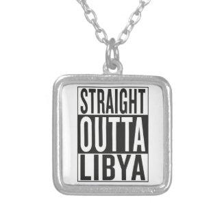 straight outta Libya Square Pendant Necklace
