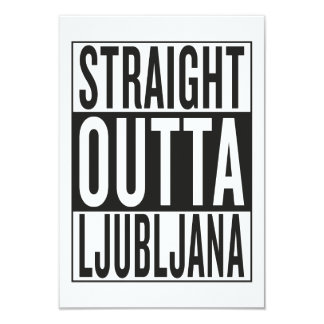 straight outta Ljubljana Card