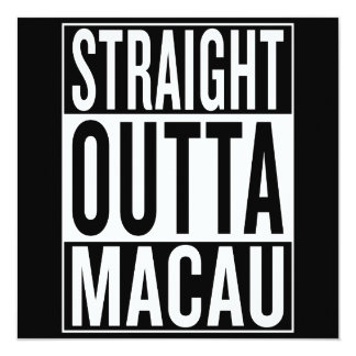 straight outta Macau Card