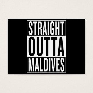straight outta Maldives Business Card