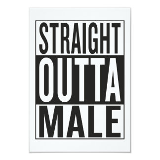 straight outta Male Card