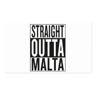 straight outta Malta Business Card
