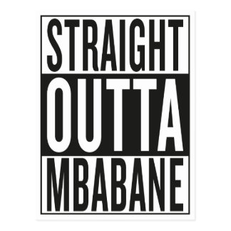 straight outta Mbabane Postcard