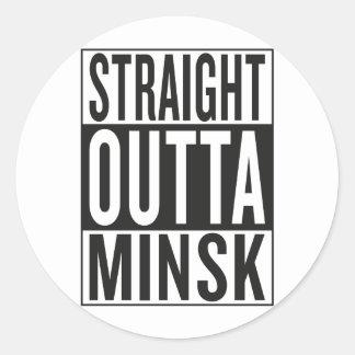 straight outta Minsk Classic Round Sticker