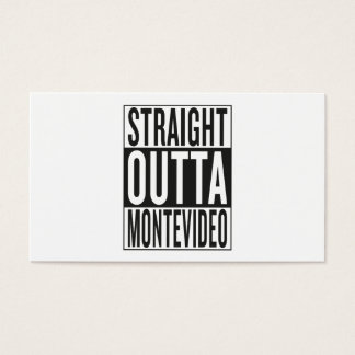 straight outta Montevideo Business Card