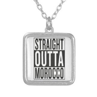 straight outta Morocco Square Pendant Necklace
