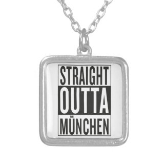 straight outta München Silver Plated Necklace