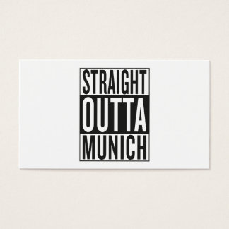 straight outta Munich Business Card