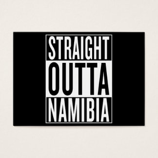 straight outta Namibia Business Card