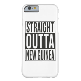 straight outta New Guinea Barely There iPhone 6 Case