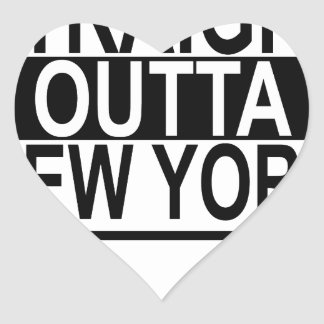 STRAIGHT OUTTA NEW YORK.png Heart Sticker