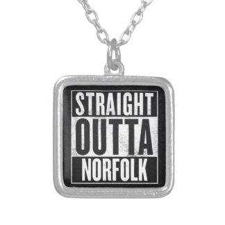 Straight Outta Norfolk Square Pendant Necklace