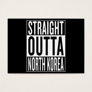 straight outta North Korea Business Card