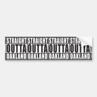 Straight Outta Oakland Black Bumper Sticker