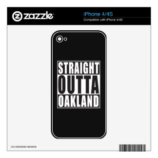 Straight Outta Oakland Black Decals For iPhone 4S