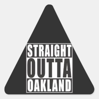 Straight Outta Oakland Black Triangle Sticker