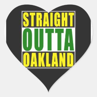 Straight Outta Oakland Green Heart Sticker