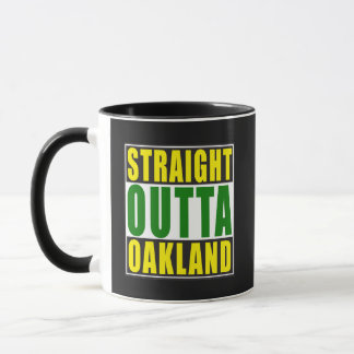 Straight Outta Oakland Green Mug