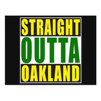 Straight Outta Oakland Green Postcard