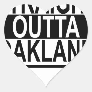 STRAIGHT OUTTA OAKLAND.png Heart Sticker
