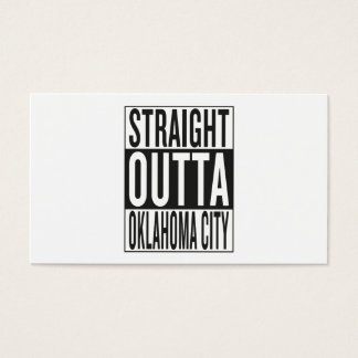 straight outta Oklahoma City Business Card